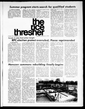 Primary view of object titled 'The Rice Thresher (Houston, Tex.), Vol. 63, No. 41, Ed. 1 Monday, March 8, 1976'.