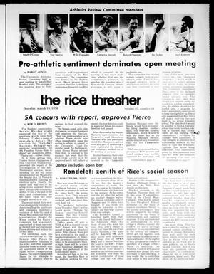 Primary view of object titled 'The Rice Thresher (Houston, Tex.), Vol. 63, No. 44, Ed. 1 Thursday, March 18, 1976'.