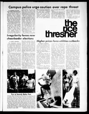 Primary view of object titled 'The Rice Thresher (Houston, Tex.), Vol. [63], No. [45], Ed. 1 Monday, March 22, 1976'.