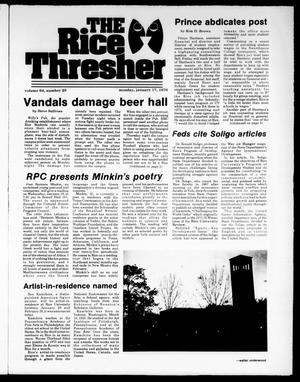 Primary view of object titled 'The Rice Thresher (Houston, Tex.), Vol. 64, No. 25, Ed. 1 Monday, January 17, 1977'.