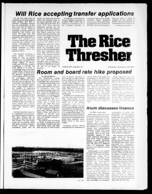 Primary view of object titled 'The Rice Thresher (Houston, Tex.), Vol. 65, No. 24, Ed. 1 Thursday, February 16, 1978'.
