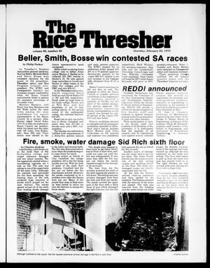 Primary view of object titled 'The Rice Thresher (Houston, Tex.), Vol. 65, No. 26, Ed. 1 Thursday, February 23, 1978'.
