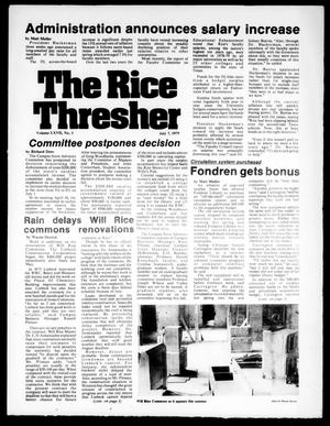 Primary view of object titled 'The Rice Thresher (Houston, Tex.), Vol. 67, No. 1, Ed. 1 Tuesday, July 10, 1979'.