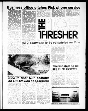 The Rice Thresher (Houston, Tex.), Vol. 67, No. 2, Ed. 1 Thursday, August 16, 1979