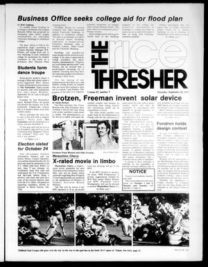 Primary view of object titled 'The Rice Thresher (Houston, Tex.), Vol. 67, No. 7, Ed. 1 Thursday, September 20, 1979'.