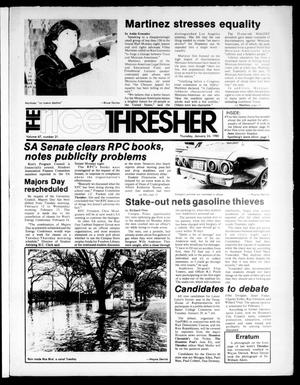 Primary view of object titled 'The Rice Thresher (Houston, Tex.), Vol. 67, No. 21, Ed. 1 Thursday, January 24, 1980'.