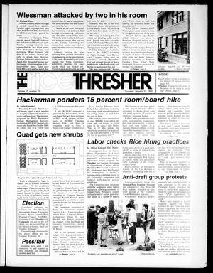 The Rice Thresher (Houston, Tex.), Vol. 67, No. 22, Ed. 1 Thursday, January 31, 1980