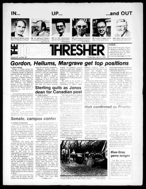 The Rice Thresher (Houston, Tex.), Vol. 67, No. 30, Ed. 1 Wednesday, April 2, 1980