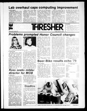 Primary view of object titled 'The Rice Thresher (Houston, Tex.), Vol. 67, No. 32, Ed. 1 Friday, April 18, 1980'.