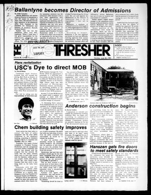 Primary view of object titled 'The Rice Thresher (Houston, Tex.), Vol. 68, No. 2, Ed. 1 Monday, June 30, 1980'.