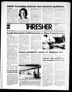 Primary view of object titled 'The Rice Thresher (Houston, Tex.), Vol. 68, No. 4, Ed. 1 Thursday, August 28, 1980'.