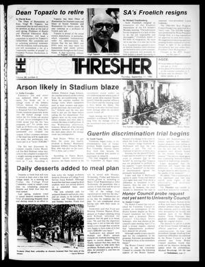 Primary view of object titled 'The Rice Thresher (Houston, Tex.), Vol. 68, No. 6, Ed. 1 Thursday, September 11, 1980'.