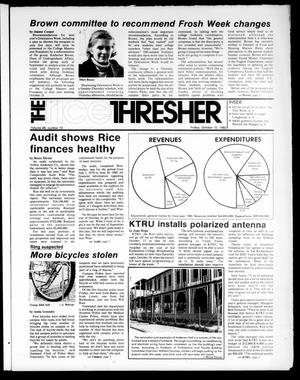 Primary view of object titled 'The Rice Thresher (Houston, Tex.), Vol. 68, No. 10, Ed. 1 Friday, October 10, 1980'.