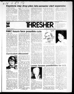 Primary view of object titled 'The Rice Thresher (Houston, Tex.), Vol. 68, No. 16, Ed. 1 Thursday, November 20, 1980'.