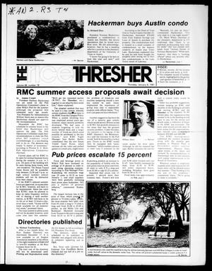 Primary view of object titled 'The Rice Thresher (Houston, Tex.), Vol. 68, No. 18, Ed. 1 Thursday, January 8, 1981'.