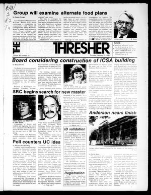 Primary view of object titled 'The Rice Thresher (Houston, Tex.), Vol. 68, No. 19, Ed. 1 Thursday, January 15, 1981'.