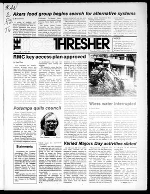 Primary view of object titled 'The Rice Thresher (Houston, Tex.), Vol. 68, No. 22, Ed. 1 Thursday, February 5, 1981'.