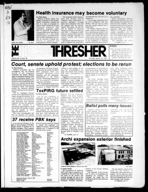 Primary view of object titled 'The Rice Thresher (Houston, Tex.), Vol. 68, No. 26, Ed. 1 Thursday, March 12, 1981'.