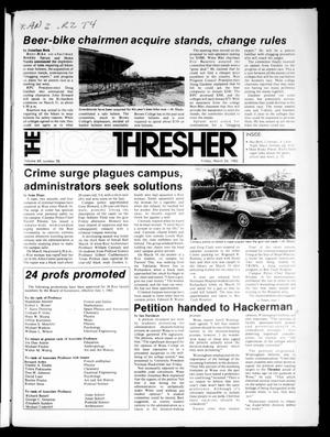 Primary view of object titled 'The Rice Thresher (Houston, Tex.), Vol. 69, No. 26, Ed. 1 Friday, March 26, 1982'.