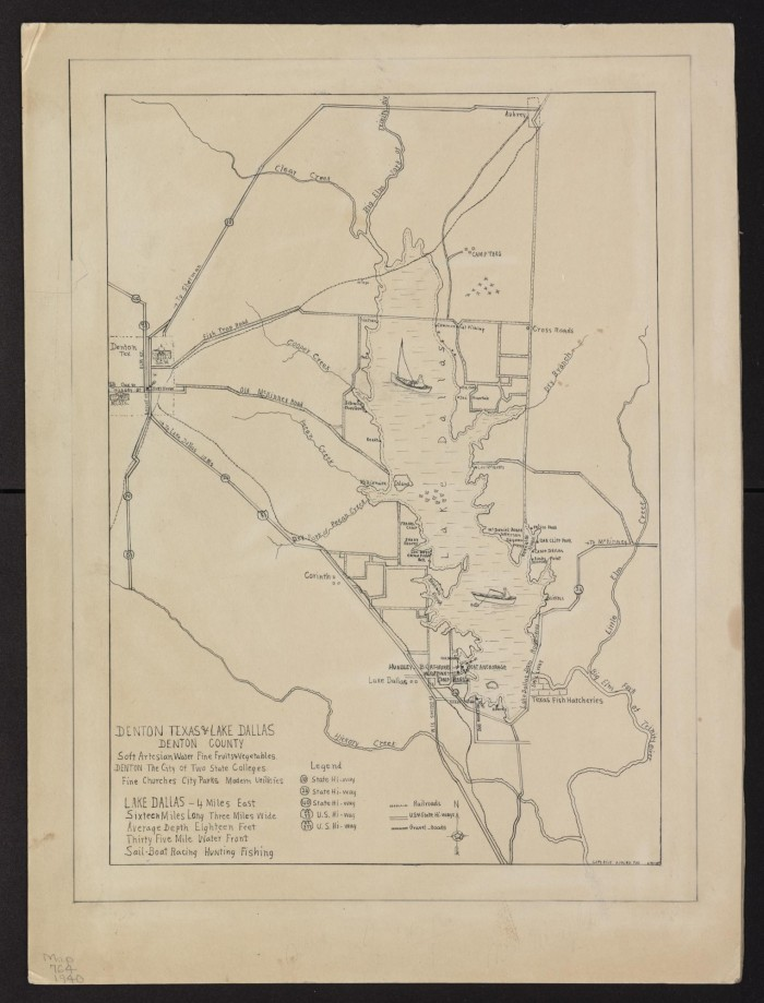 Denton Texas & Lake Dallas, Denton County : holograph, [1940 ... on winnsboro map, elm city map, paul lake map, pittsville map, archer city map, fairport map, ysleta map, southside place map, piney point village map, franklinton map, urbana map, zapata map, wolfe city map, de cordova map, bennettsville map, candor map, garland map, teague map, westworth village map, silver valley map,