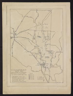 Primary view of object titled 'Denton Texas & Lake Dallas, Denton County : holograph, [1940?]'.