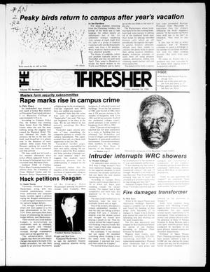 Primary view of object titled 'The Rice Thresher (Houston, Tex.), Vol. 70, No. 16, Ed. 1 Friday, January 14, 1983'.