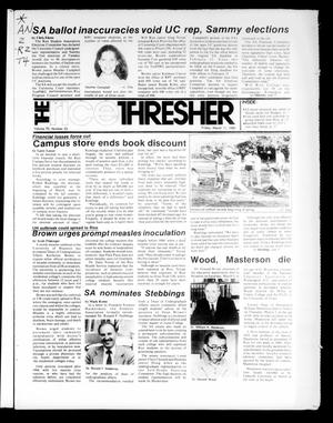 Primary view of object titled 'The Rice Thresher (Houston, Tex.), Vol. 70, No. 23, Ed. 1 Friday, March 11, 1983'.