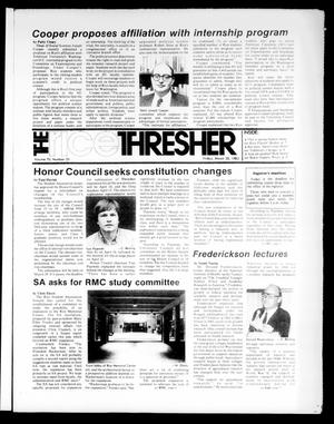 Primary view of object titled 'The Rice Thresher (Houston, Tex.), Vol. 70, No. 25, Ed. 1 Friday, March 25, 1983'.