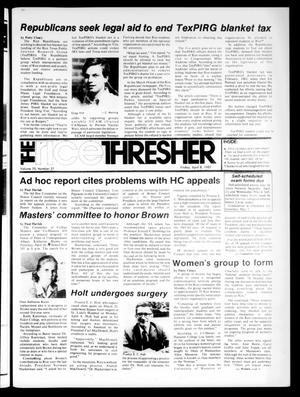 Primary view of The Rice Thresher (Houston, Tex.), Vol. 70, No. 27, Ed. 1 Friday, April 8, 1983