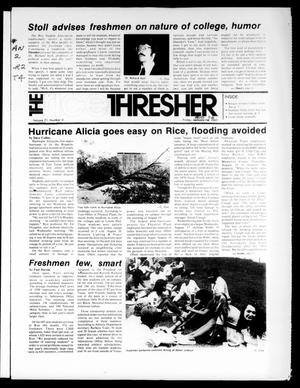 The Rice Thresher (Houston, Tex.), Vol. 71, No. 2, Ed. 1 Friday, August 26, 1983