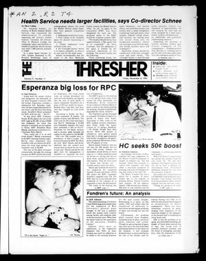 Primary view of object titled 'The Rice Thresher (Houston, Tex.), Vol. 71, No. 11, Ed. 1 Friday, November 4, 1983'.
