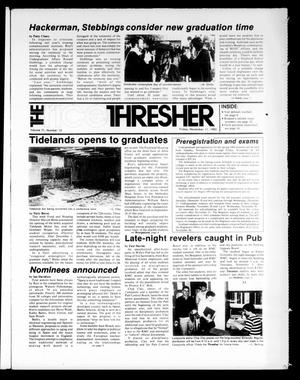 Primary view of object titled 'The Rice Thresher (Houston, Tex.), Vol. 71, No. 12, Ed. 1 Friday, November 11, 1983'.