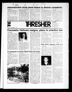 Primary view of object titled 'The Rice Thresher (Houston, Tex.), Vol. 71, No. 13, Ed. 1 Friday, November 18, 1983'.