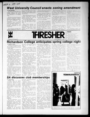 Primary view of object titled 'The Rice Thresher (Houston, Tex.), Vol. 72, No. 21, Ed. 1 Friday, February 1, 1985'.