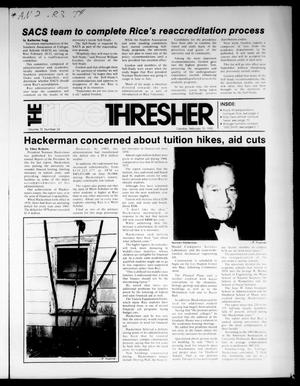 The Rice Thresher (Houston, Tex.), Vol. 72, No. 24, Ed. 1 Tuesday, February 12, 1985