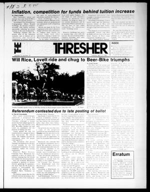 Primary view of object titled 'The Rice Thresher (Houston, Tex.), Vol. 72, No. 39, Ed. 1 Tuesday, April 16, 1985'.