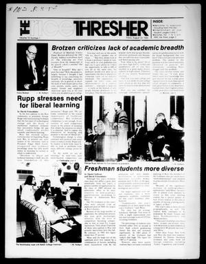 The Rice Thresher (Houston, Tex.), Vol. 73, No. 1, Ed. 1 Friday, August 23, 1985