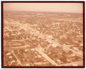Primary view of object titled '[Photograph of an Aerial View of a Fredericksburg, TX]'.