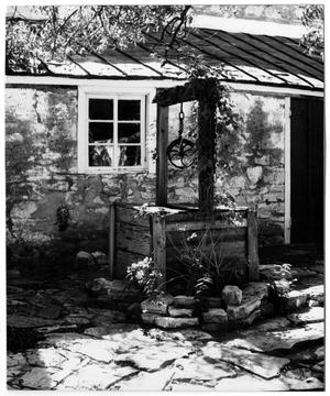 Primary view of object titled '[Photograph of the Well at the Pioneer Museum]'.