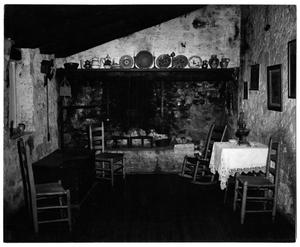 Primary view of object titled '[Photograph of a Fireplace]'.