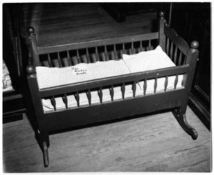 Primary view of object titled '[Photograph of Admiral Nimitz's Cradle]'.