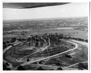 [Aerial View of Cross Mountain and Fredericksburg, TX]