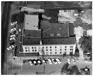 Primary view of object titled '[Aerial View of the Nimitz Hotel]'.