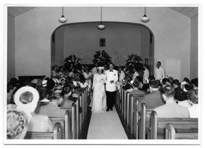 Primary view of object titled '[Photograph of the Wedding of Bill Ayres and Wini Sue McBride]'.