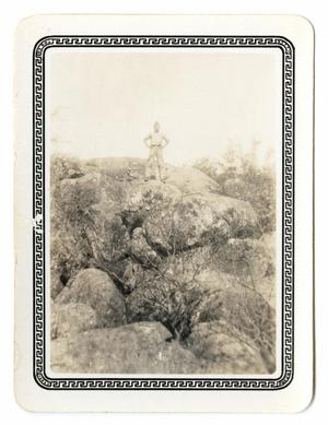 Primary view of object titled '[Photograph of a Man on a Hillside]'.