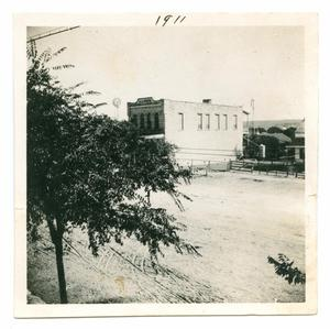 Primary view of object titled '[Photograph of the A. L. Patton Building in Fredericksburg, TX]'.