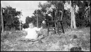 Primary view of object titled '[Photograph of a Baby Outside]'.