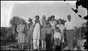 Primary view of object titled '[Photograph of a Group of People Outside]'.