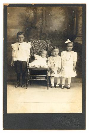 Primary view of object titled '[Portrait of Henry Maurer's Four Children]'.