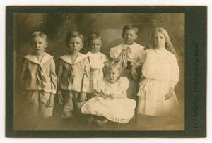 Primary view of object titled '[Portrait of August Kothmann's Six Children]'.
